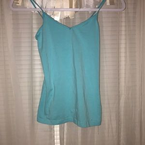 Plain blue cami